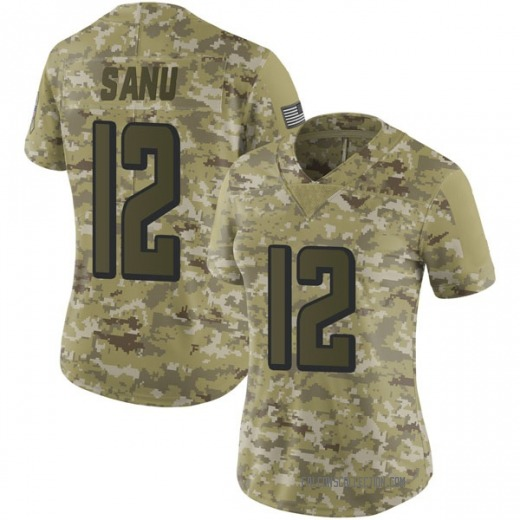 Mohamed Sanu Women s Atlanta Falcons Nike 2018 Salute to Service Jersey -  Limited Camo 04a81f5698